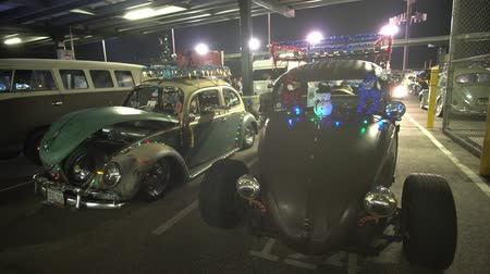 volkswagen : Temple City, DEC 8: Night view of Volkswagen Bettle car party on DEC 8, 2018 at Temple City, Los Angeles County, California