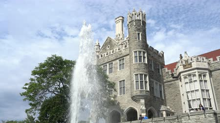 ontario : Toronto, SEP 29: Exterior view of the famous Casa Loma on SEP 29, 2018 at Toronto, Canada Stock Footage