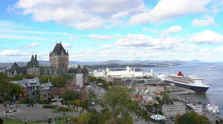 kraliçe : Quebec, OCT 1: Exterior view of the famous Fairmont Le Château Frontenac on OCT 1, 2018 at Quebec, Canada