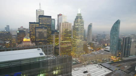 herfst : Aerial morning view of the Toronto downtown, Canada Stockvideo