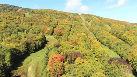 culture : Veduta aerea del bel colore autunnale di Mont Orford a Quebec, in Canada Filmati Stock