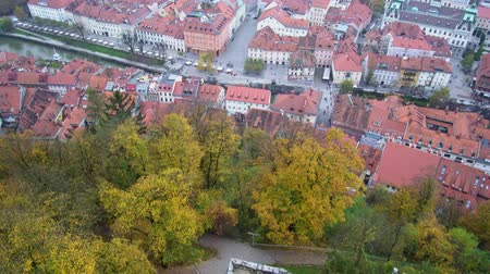 slovinsko : Aerial view of the Ljubliana cityscape at Slovenia