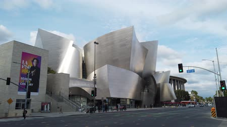 concert hall : Los Angeles, FEB 6: Afternoon exterior view of Walt Disney Concert Hall on FEB 6, 2019 at Los Angeles, California