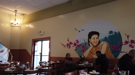 Çin mahallesi : Los Angeles, FEB 6: Interior view of a restaurant of China Town which Jackie Chan filmed before on FEB 9, 2019 at Los Angeles, California