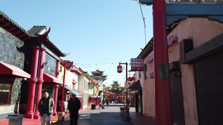 américa central : Los Angeles, FEB 9: Chinese New Year decoration of China Town on FEB 9, 2019 at Los Angeles, California