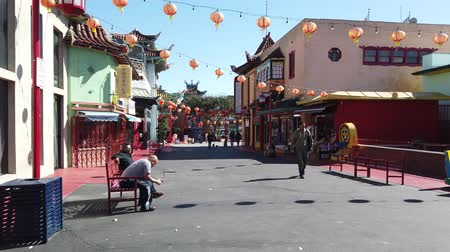 ano novo chinês : Los Angeles, FEB 9: Chinese New Year decoration of China Town on FEB 9, 2019 at Los Angeles, California