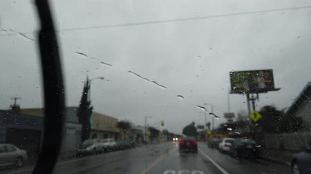 pencereler : Driving timelapse in the rainy at Los Angeles