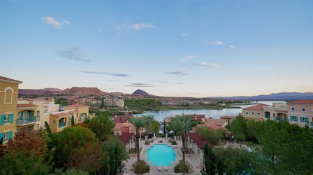 dragão : Afternoon aerial timelapse of the Lake Las Vegas Resort at Nevada