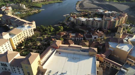 nevada : Aerial view of the beautiful landscape and building along the Lake Las Vegas at Nevada