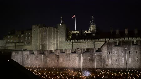 prima guerra mondiale : Evento speciale Beyond the Deepening Shadow a Tower of London, Regno Unito Filmati Stock