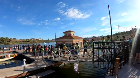 yat yarışı : Las Vegas, OCT 13: People waiting for the dragon boat competition on OCT 13, 2018 at Las Vegas, Nevada