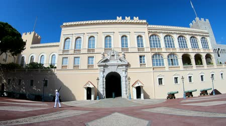 patrol : Monaco, OCT 21: Soldier patrol in front of the Princes Palace of Monaco on OCT 21, 2018 at Monco