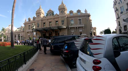 toward : Monaco, OCT 21: Walking towards the famous Casino Monte-Carlo on OCT 21, 2018 at Monco