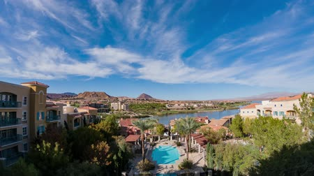 Вегас : Afternoon aerial timelapse of the Lake Las Vegas Resort at Nevada
