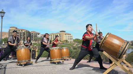 visitante : Las Vegas, OCT 13: Japanese Taiko drum performance in the famous Rose Regatta Dragon Boat Festival on OCT 13, 2018 at Las Vegas, Nevada