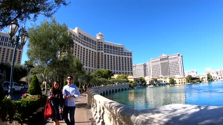 bellagio : Las Vegas, OCT 13: Walking towards the Bellagio Hotel and Casino on OCT 13, 2018 at Las Vegas, Nevada