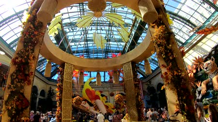 bellagio hotel : Las Vegas, OCT 12: Interior view of the famous Bellagio Conservatory & Botanical Gardens on OCT 12, 2018 at Las Vegas, Nevada