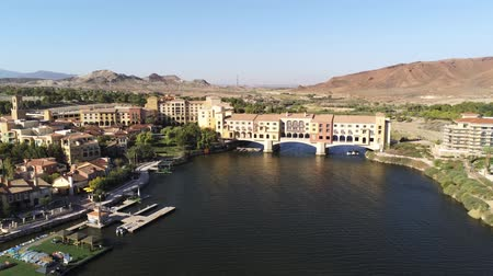 usa : Aerial view of the beautiful landscape along the Lake Las Vegas at Nevada Dostupné videozáznamy