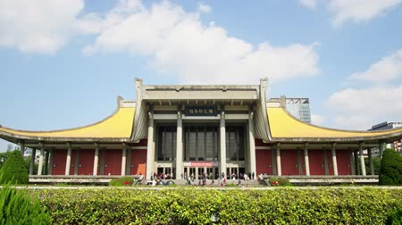 мемориал : Taipei, DEC 17: Exterior view of the National Dr. Sun Yat-Sen Memorial Hall on DEC 17, 2018 at Xinyi District, Taipei, Taiwan