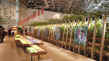 павильон : Taichung, DEC 22: Interior view of the Harvest Blessings Pavilion of Taichung World Flora Exposition on DEC 22, 2018 at Taichung, Taiwan
