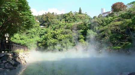 taipei : Nature landscape of the Beitou Thermal Valley at Taipei, Taiwan Stock Footage
