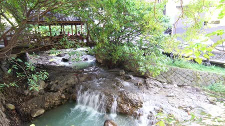 hot springs : The hot spring river of Beitou area at Taipei, Taiwan Stock Footage