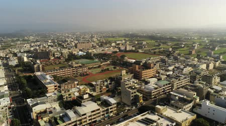 rotação : Aerial view of the cityscape of Yuanli Township, Taiwan