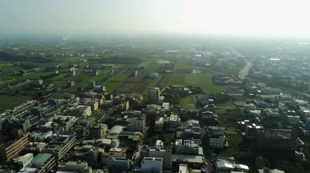 típico : Aerial view of the cityscape of Yuanli Township, Taiwan