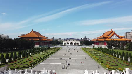 concertgebouw : Taipei, JAN 4: Archway, National Concert Hall of the Chiang Kai-shek Memorial Hall at JAN 4, 2019 at Taipei Stockvideo
