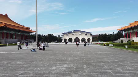 memorial day : Taipei, JAN 4: Archway, National Concert Hall of the Chiang Kai-shek Memorial Hall at JAN 4, 2019 at Taipei Stock Footage