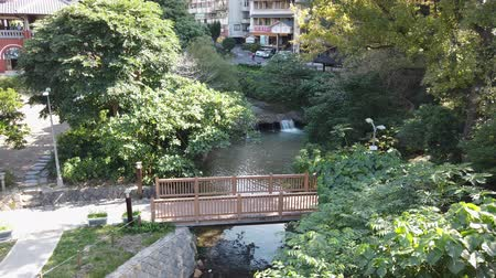 molas : The hot spring river of Beitou area at Taipei, Taiwan Vídeos