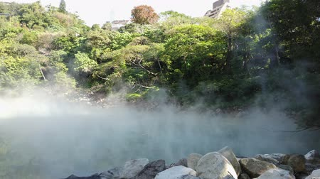 molas : Nature landscape of the Beitou Thermal Valley at Taipei, Taiwan Stock Footage