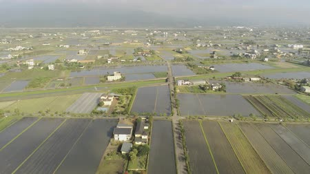 típico : Aerial view of the rural landscape of Yilan, Taiwan