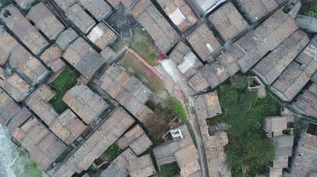 işlemek : Aerial view of the Bagua Village of Licha Cun at Zhaoqing, China Stok Video