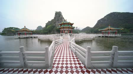 five star : Five dragon pavilion of Seven-star Crags Scenic Area at Zhaoqing, China