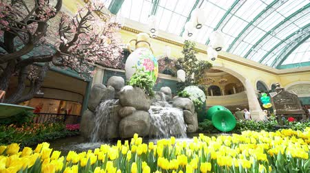 bellagio hotel : Las Vegas, APR 28: Special Japanese spring display in Bellagio Conservatory & Botanical Gardens on APR 28, 2019 at Las Vegas, Nevada