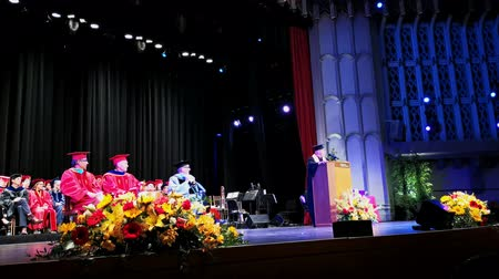 градация : Los Angeles, MAY 10: Graduation Ceremony of University of Southern California on MAY 10, 2019 at Los Angeles, California
