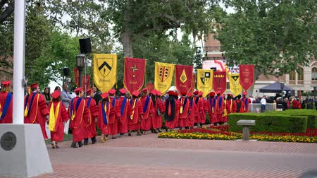 laurea : Los Angeles, MAY 10: Graduation Ceremony of University of Southern California on MAY 10, 2019 at Los Angeles, California