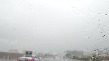 мрачный : Driving in the rainy Las Vegas, Nevada