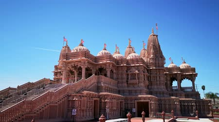 증명 : Exterior view of the famous BAPS Shri Swaminarayan Mandir at Chino Hills, California