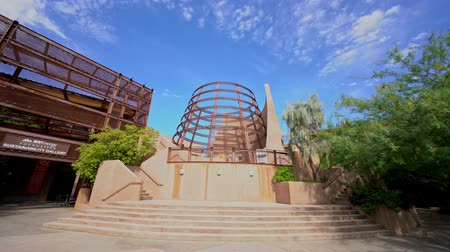 molas : Las Vegas, AUG 4: Sunny view of the NV Energy Foundation, Sustainability Gallery in Springs Preserve on AUG 4, 2019 at Las Vegas, Nevada Vídeos