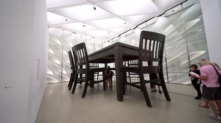 tag : Las Vegas, Aug 8: Huge table and chair display in the famous The Broad Museum on AUG 8, 2019 at Las Vegas, Nevada Stock mozgókép