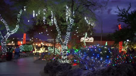 sziám : Night view of many Christmas lights at Henderson, Nevada