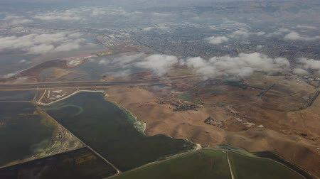 diablo : Aerial view of the Don Edwards San Francisco Bay National Wildlife Refuge at California Stock Footage