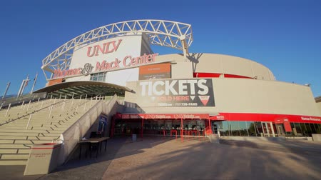 Вегас : Las Vegas, NOV 23:   Exterior view of the famous Thomas & Mack Center on NOV 23, 2019 at Las Vegas, Nevada