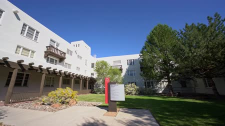 Sunny view of the beautiful campus of The University of New Mexico at Albuquerque
