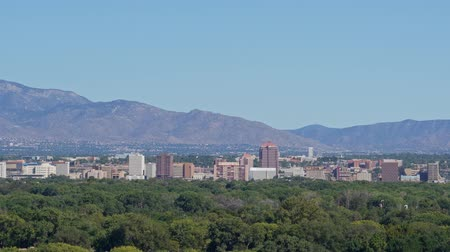 new mexico : Aerial view of the Albuquerque cityscape at New Mexico