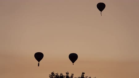recreatie : Sunrise view of the famous Albuquerque International Balloon Fiesta event at New Mexico