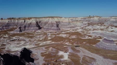 Beautiful landscape of Petrified Forest National Park at Arizona Stock mozgókép