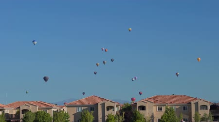 Morning view of the famous Albuquerque International Balloon Fiesta event at New Mexico Archivo de Video